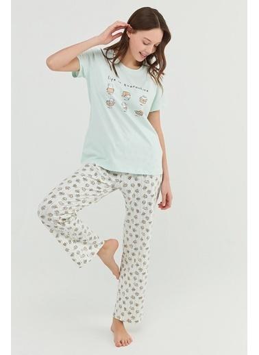 Penti Mint Yeşili Cat Life Pantolon Takımı Yeşil